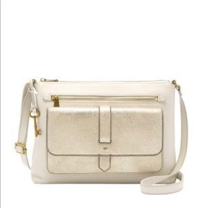 Fossil // Pale Gold Metallic Kinley Crossbody